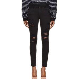 Frame Denim distressed Le Skinny de Jeanne jeans